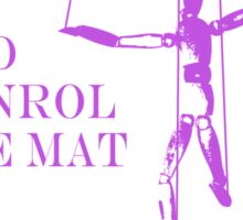 Be the Puppeteer and Control the Mat Jiu Jitsu Purple  Sticker