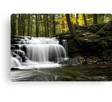 Serenity Waterfalls Landscape Canvas Print