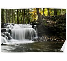 Serenity Waterfalls Landscape Poster