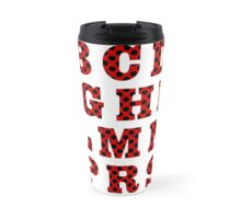 Letters with ladybird pattern. Travel Mug