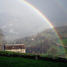 Rainbow over the mountains of Cantabria by Dulcina