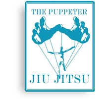 The Puppeteer Jiu Jitsu Blue  Canvas Print