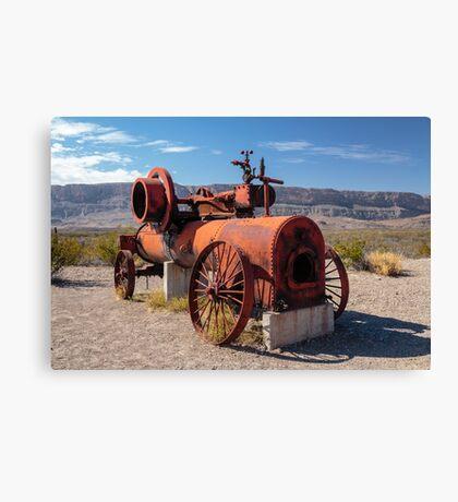 Steam Engine Irrigation Pump Canvas Print