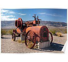 Steam Engine Irrigation Pump Poster