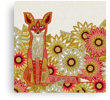 garden fox Canvas Print