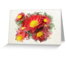 Chrysanthemum Watercolor Art Greeting Card