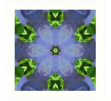 Purple Iris Kaleidoscope Art Print