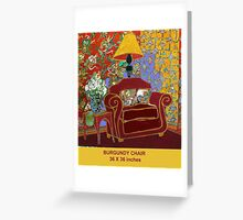 BURGUNDY CHAIR Greeting Card