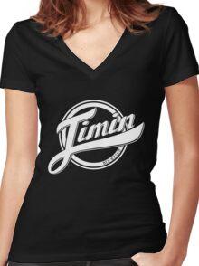 Jimin - BTS Member Logo Series (White) Women's Fitted V-Neck T-Shirt