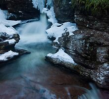 Adams Falls in the Winter by Murph2010