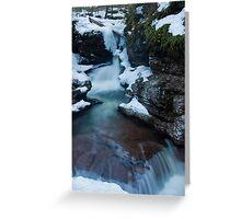 Adams Falls in the Winter Greeting Card