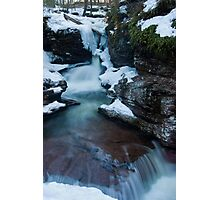 Adams Falls in the Winter Photographic Print