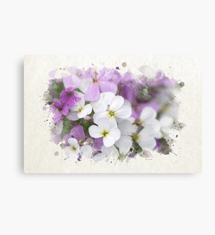 Wildflower Watercolor Canvas Print