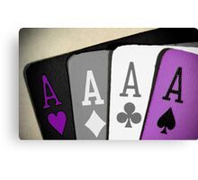 The Asexuality Blog - Four Aces Logo Canvas Print