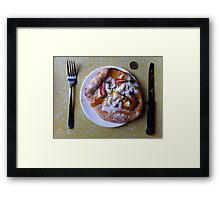 Dessert Pizza Foresta Bianca Framed Print
