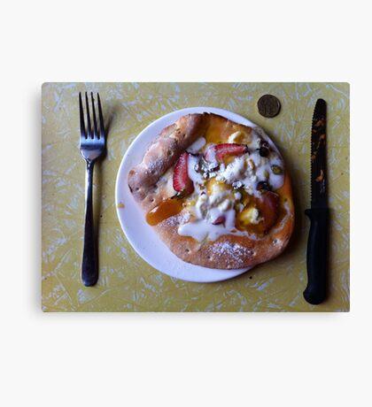 Dessert Pizza Foresta Bianca Canvas Print