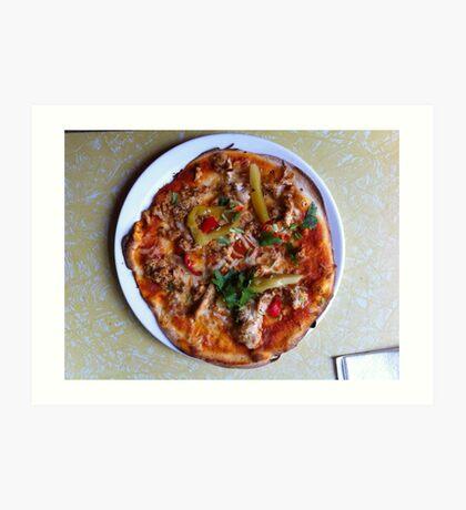 Pizza Verano Aves Art Print