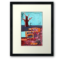 the fire Framed Print