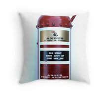Old 1964 Fire Extinguisher. Throw Pillow
