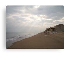 spain,capturing the light on the beach Canvas Print