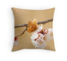 comma with her friends. Throw Pillow