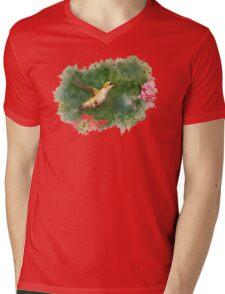 Hummingbird Watercolor Mens V-Neck T-Shirt