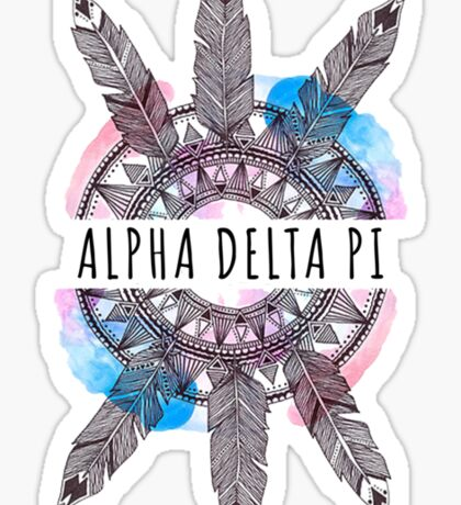 ADPi Feathers Sticker