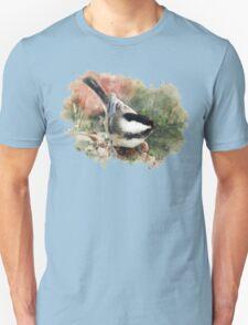 Chickadee Watercolor Art T-Shirt
