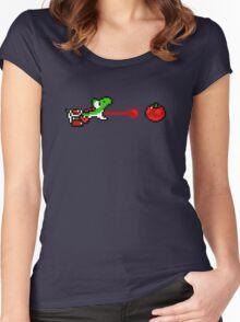 Yoshi - pixel art Women's Fitted Scoop T-Shirt