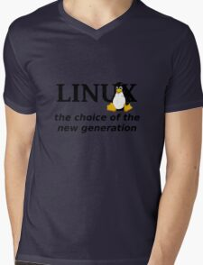 Linux Generation Mens V-Neck T-Shirt