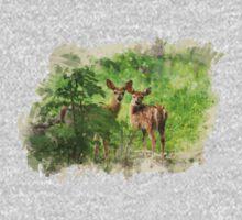 Deer Watercolor Kids Tee