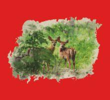 Deer Fawns Watercolor Art Kids Clothes