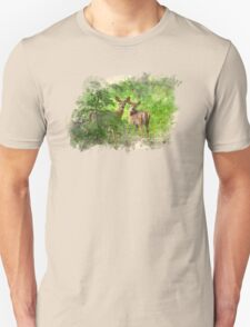 Deer Fawns Watercolor Art T-Shirt