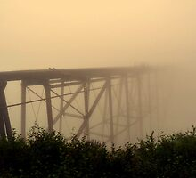 Ghostly Bridge to Nowhere by Stephen  Saysell