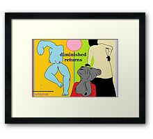 lament of the magpie or magritte on vacation at the beach 4 (2nd version of #3) Framed Print