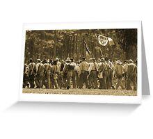 Skirmish line in sepia Greeting Card