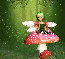 Fairy Birthday Card - Woodland Fairy Happy Birthday by Moonlake