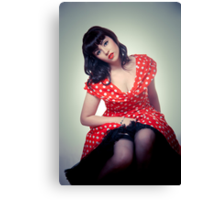 Classic Beauty - Vintage PinUp Inspired Canvas Print