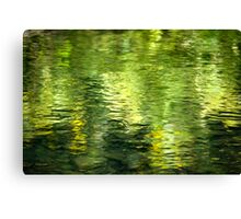 Green Water Abstract Canvas Print