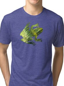 Green Water Abstract Tri-blend T-Shirt