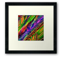 Multi coloured digital creation Framed Print