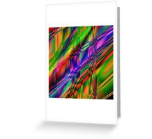 Multi coloured digital creation Greeting Card