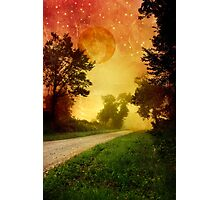 Starry Night Landscape Photographic Print