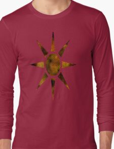 Copper Spiral Abstract Long Sleeve T-Shirt