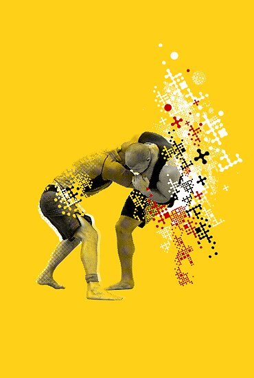 NO GI GRAPPLING POSTER by Willy Karl Beecher
