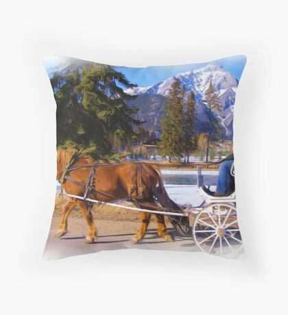 Romantic ride - Digital Art Throw Pillow