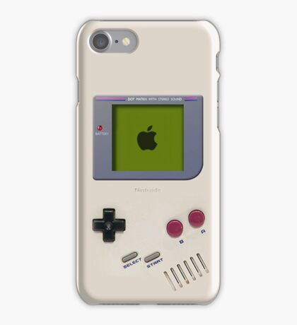 Classic old vintage Retro white milk gameboy gamewatch iPhone Case/Skin
