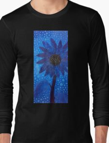 Cool Blue Flower Long Sleeve T-Shirt