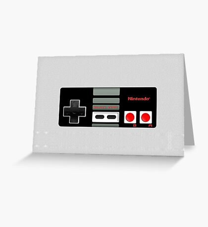 Classic old vintage Retro game controller Greeting Card