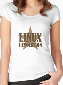 Linux Revolution Large Women's Fitted Scoop T-Shirt